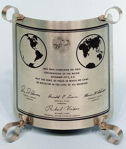 Apollo 17plaque
