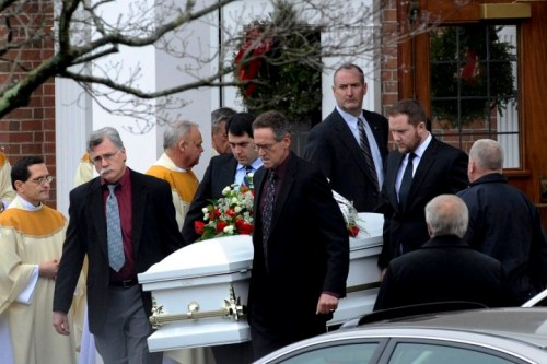 Funeral service for people killed in Newtown school shooting